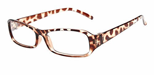 FancyG® Vintage Inspired Classic Rectangle Glasses Frame Eyewear Clear Lens - Glasses Fake Red