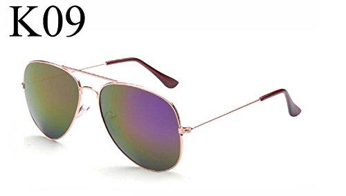 Fashion dames Vintage Trame soleil New lunettes pilote de de femmes Aviator dorée lunettes hommes soleil OMAS cadre pilote violet lunettes lunettes mercure pFawq