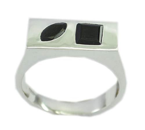 Supply 925 Sterling Silver Bewitching Natural Black Ring, Black Onyx Black Stone Silver Ring -