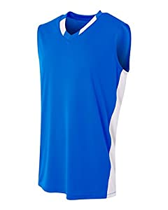6f8fa70b0 2-Color (Neck Side Panel) Basketball Uniform CUSTOM or Blank Moisture  Wicking Sleeveless Jersey Top (8 Colors in Youth   Adult Sizes)