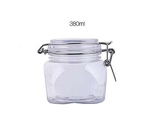 53cc16ee7b2f Round Clear Thicken PET Plastic Latch Lid Cosmetic Makeup Facial ...