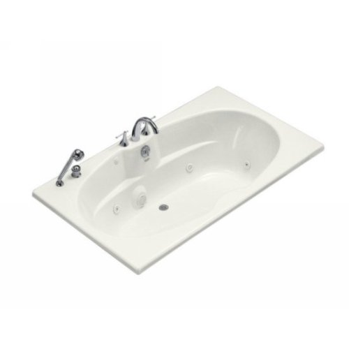 (Kohler K-1131-CE-0 7242 Whirlpool with Custom Pump Location, White)