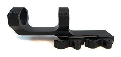 Monstrum Tactical 30mm Cantilever Dual Ring Scope Mount with Quick Release, Offset Design, Picatinny, Heavy Duty