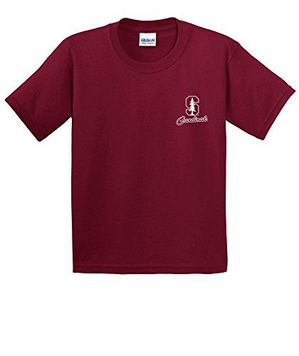 NCAA Stanford Cardinal Youth Cheer Loud Short Sleeve Cotton T-Shirt, Small,Cardinal