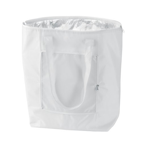 LARGE COOL BAG WHICH FOLDS DOWN FOR EASY CARRYING! FOLDABLE COOLER BAG (White)
