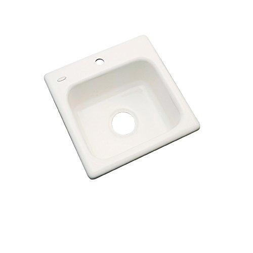 Dekor Sinks 27101 Duxbury Cast Acrylic Prep Sink-1 Hole, 16