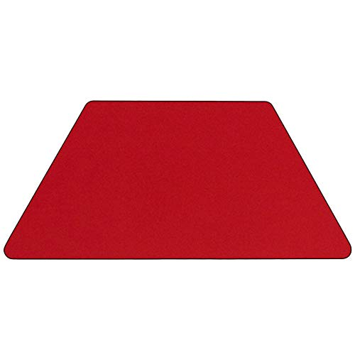 Oliver Mobile 25x45 Trapezoid Red HP Laminate Adjustable Activity Table Emma