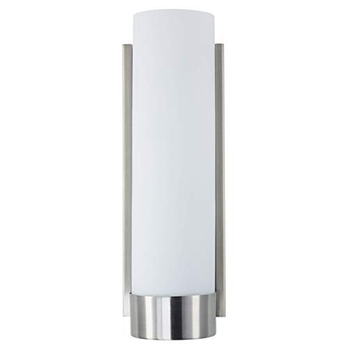 Elina Bathroom Vanity Light - Brushed Nickel w/ Frosted Shade - Linea - Bathroom Led Mirrors Narrow