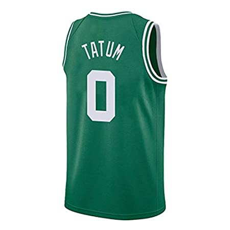 Jayson Tatum Boston Celtics 2018-2019 Temporada NBA Baloncesto Jersey Lebron James Kyrie Irving Kevin Durant Stephen Curry Lakers Cohetes Guerreros ...