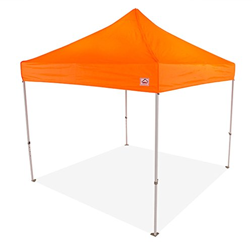 Impact Canopy 10 x 10 Pop-Up Canopy Tent, Powder-Coated Steel Frame, Straight Leg, Roller Bag, Orange
