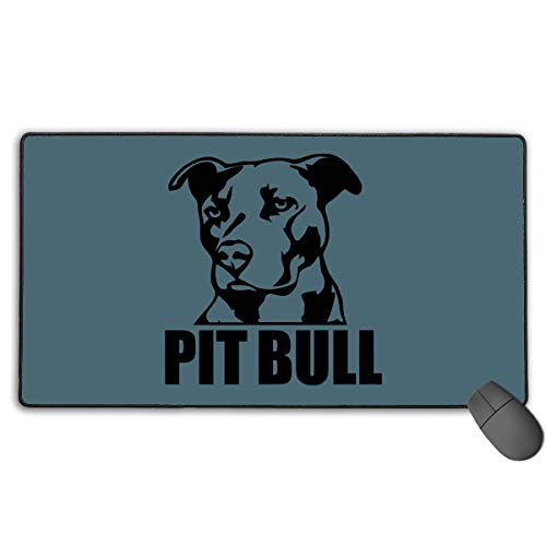 (GGlooking Gaming Mouse Mat Proud Pit Bull Large Computer Pad Non-Slip Keyboard Desk Accessories,Office & School Supplies)