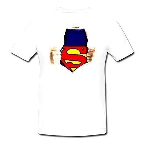 09ceb6d759d6ea Superman Dc Comics Anzug Retro Erwachsene Herren Weiß Baumwolle Kurze Ärmel  Sommer Tshirt Top