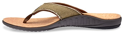 Straw Flip Cork Sandal Flop Canvas Women's Spenco Yumi Java xUqvtz