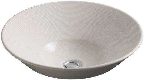 Boucle Muslin - KOHLER K-2200-HW Conical Bell Vessels Above Counter or Wall Mount Bathroom Sink, Boucle Muslin