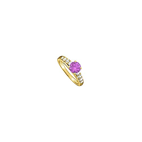 Elegant Amethyst and Cubic Zirconia Ring 1.50 TGW