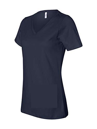 Bella for Women's Missy Fit V-Neck Short-Sleeve T-Shirt, navy, X-Large