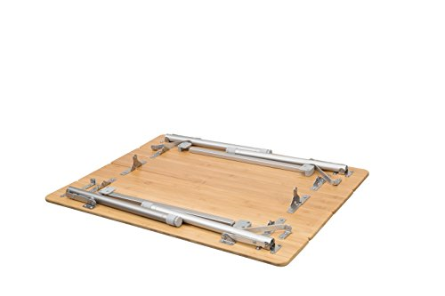 ATEPA 4-Fold Bambu Heavy Duty Adjustable Height Aluminum Frame Folding Bamboo Table with Carry Bag by ATEPA (Image #5)