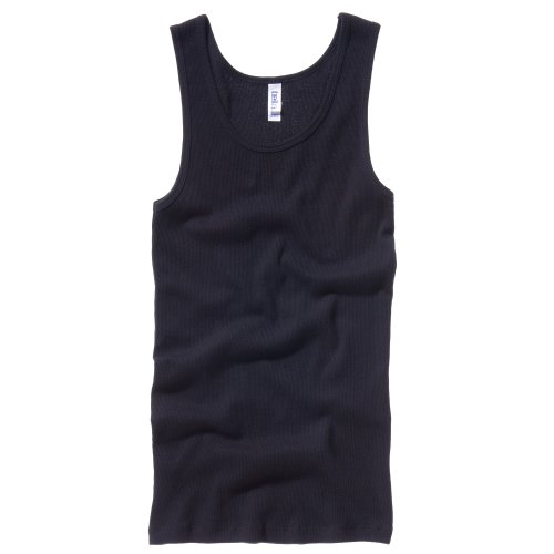 Bella + Canvas Womens/Ladies Rib Tank Vest Top (8-10 US) (Black)