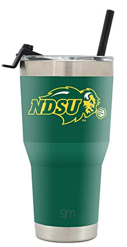 Simple Modern College Tumbler Straw ND State