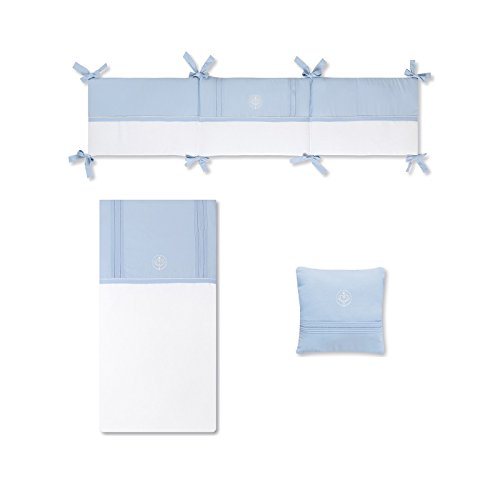 Bimbi Elite–Bettbezug, 72x 142cm, Farbe Weiß und Blau
