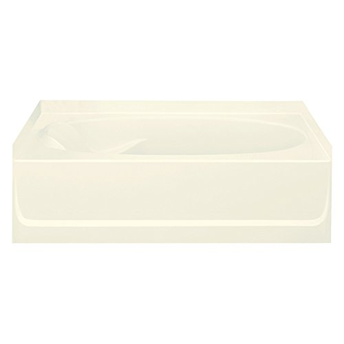 STERLING 71111122-96 Ensemble Bathtub, 60-Inch x 42-Inch x 18.25-Inch, Right-Hand, Biscuit