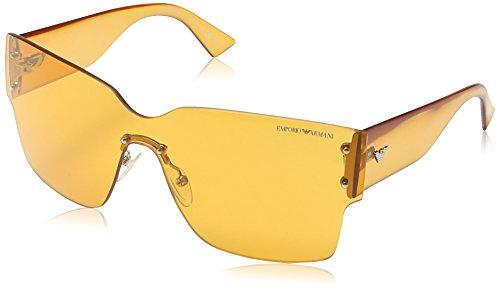 Armani Jeans - Lunette de soleil EA 9894/S Enveloppante Golden Brown & Yellow / Light Brown