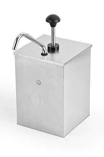 ChefMaid Stainless Steel Condiment Pump Single Head Sauce Dispenser Pump Dispense Kitchen - Single Dispenser Condiment
