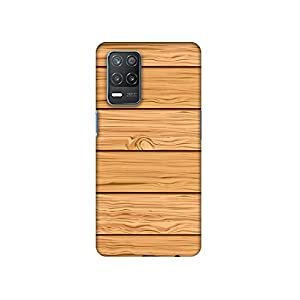 Casotec Wooden Texture Pattern Design 3D Printed Hard Back Case Cover for Realme 8 5G