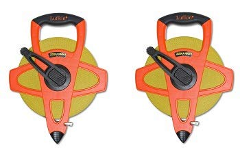 Lufkin FM100CME 2-Sided, Metric/English 13mm 1/2-Inch x 100m 328-Foot HLufkin FM100CME 2-Sided, Metric/English 13mm 1/2-Inch x 100m 328-Foot Hi-Viz Orange Fiberglassi-Viz Orange Fiberglass (3-(Pack))
