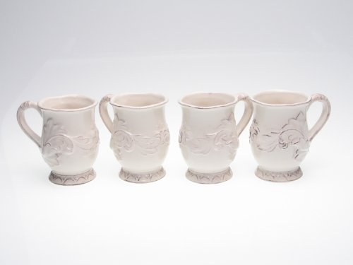 (Certified International Firenze Ivory 16-Ounce Mug, Set of 4 )