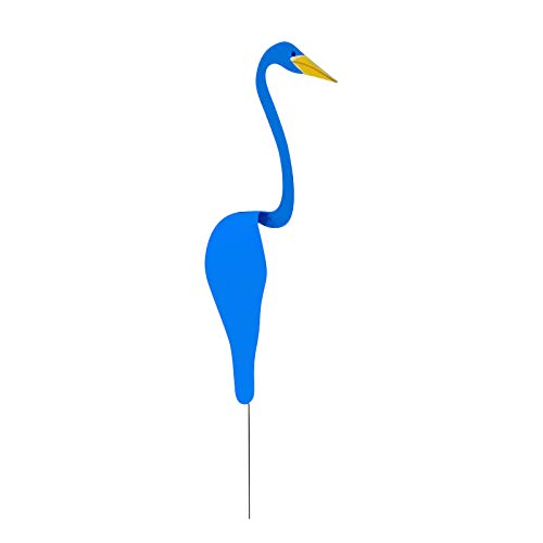 Flamingo Wind Chimes Blue Swirl Bird Gardening Decoration Spinning with The Breeze Spins with The Slight Garden Wind Sculpture Art and Chime Bells Decorate The Family Yard and Backyard Party (20)