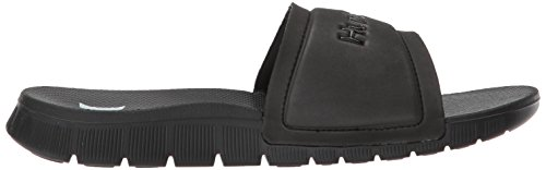 Hurley Womens One and Only Fusion Slide Sandal Black/White 04jI0R0R