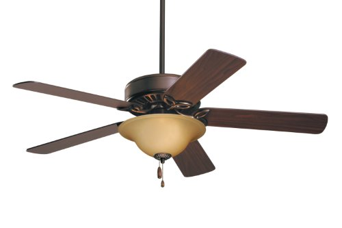 Emerson Ceiling Fans CF712ORB Pro Series Ceiling Fans, Indoor Ceiling Fan with Light, 50-Inch Emerson Fans Blades, Bronze Ceiling Fan with Oil Rubbed Bronze Finish (Bronze Antique Cherry)