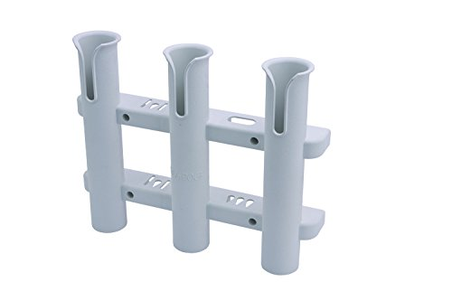 Sea Dog 325038-1 Three Pole Side-Mount Rod Holder, (Side Mount Fishing Rod Holder)