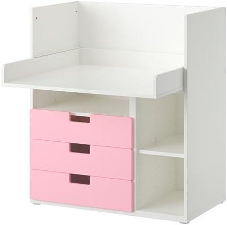 Ikea STUVA - Escritorio con 3 cajones, Blanco, Rosa - 90x79x102 cm ...