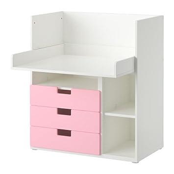 Ikea Stuva Bureau.Ikea Stuva Bureau Avec 3 Tiroirs Blanc Ou Rose 90 X 79 X 102 Cm