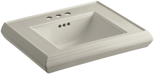 KOHLER K-2239-4-G9 Memoirs Pedestal Bathroom Sink Basin with 4