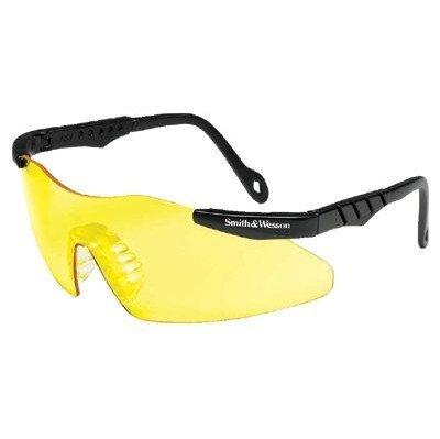 Smith & Wesson 19826 Magnum 3G Safety Eyewear, Polycarbonate Anti-Scratch Lenses, One Size, Black Nylon Frame, Amber