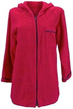 Lady Bella - Albornoz para mujer con capucha de rizo de puro ...