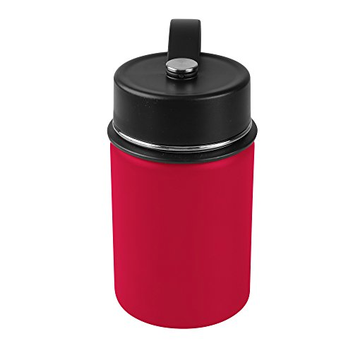 - Tahoe Trails 12 oz Double Wall Vacuum Insulated Stainless Steel Water Bottle, Red