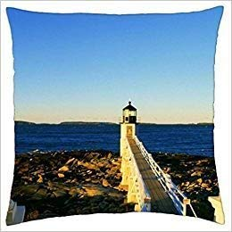 - glabery Marshall Point Lighthouse - Throw Pillow Cover Case (18 18