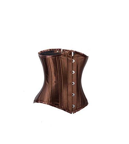 sial Inda: Bajo Pecho corsé Cassina, marrón, satén, de gran calidad marrón