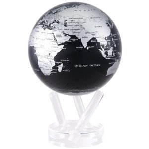 6'' Silver and Black Metallic MOVA Globe by Mova