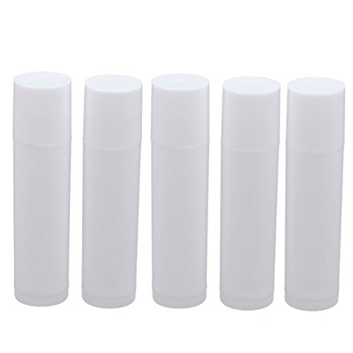uxcell-Empty-DIY-Lip-Balm-Tube-Lipstick-Container-Cosmetic-Case-5pcs-White