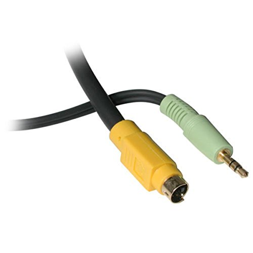 Value Series S-video Audio (C2G / Cables To Go 27992 Value Series Bi-Directional S-Video + 3.5mm Audio to RCA Audio/Video Cable (12)