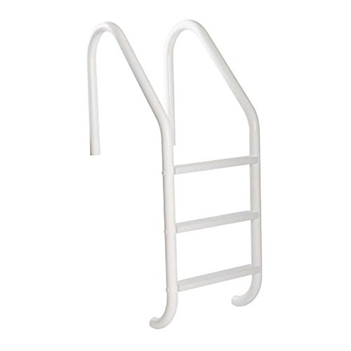 S.R. Smith VLLS-103E-VG SealedSteel 3-Step Pool Ladder with White Plastic Steps, Gray Escutcheons