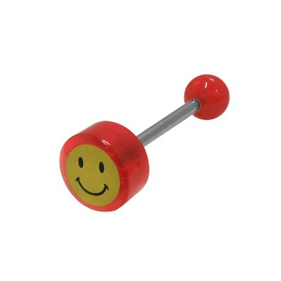 BodyJewelryOnline Smiley Face Logo Barbell Tongue Ring