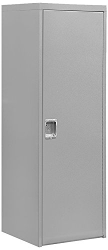 Salsbury Industries Welded Industrial Storage Cabinet with Single Door, 72-Inch High by 24-Inch Deep, Gray by Salsbury Industries