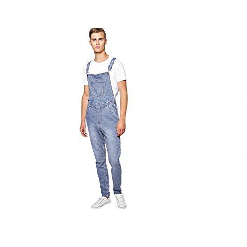 McCarthy Jeans Mens Denim Lightwash Blue Dungarees King Size Overalls