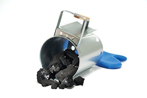 GrillPro 39480 Chimney Charcoal Starter, Silver ()